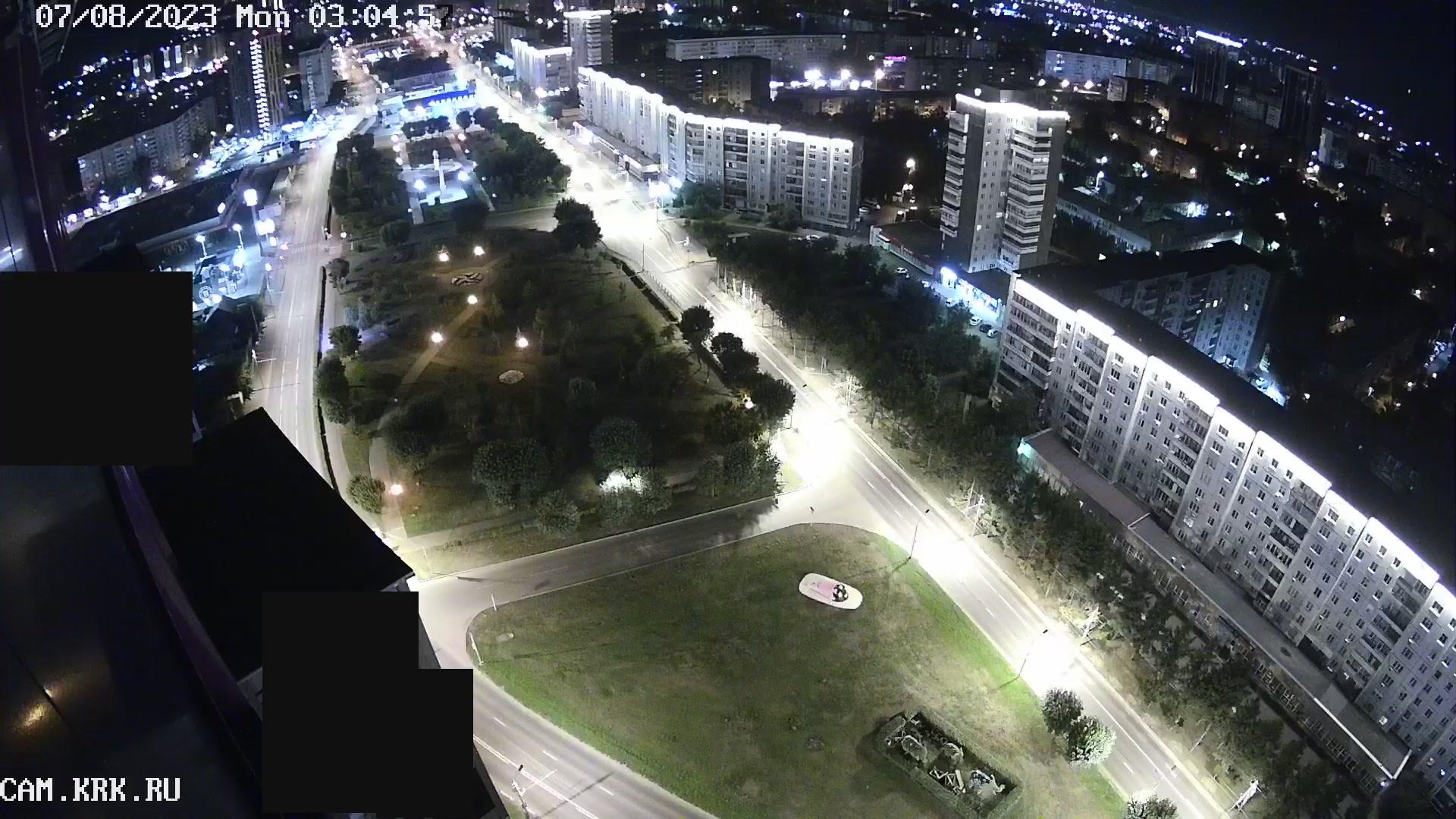 Веб камера Красноярск Сквер на улицах Копылова и Красной армии
